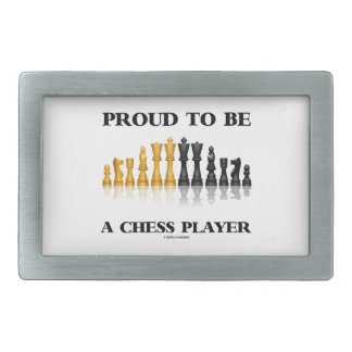 Proud To Be A Chess Player (Reflective Chess Set) Belt Buckle