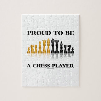 Proud To Be A Chess Player (Reflective Chess Set) Jigsaw Puzzle