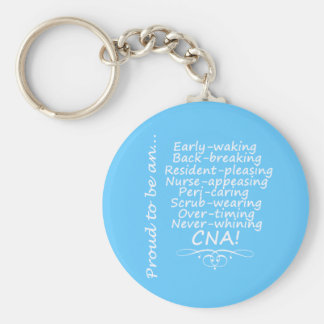 Proud to be a CNA Basic Round Button Keychain