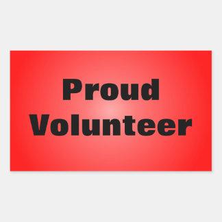 Proud to be a Dedicated Volunteer Rectangular Sticker