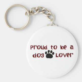 Proud To Be A Dog Lover Keychain