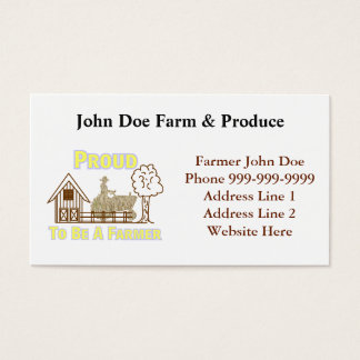Proud To Be A Farmer Business Card