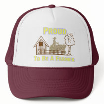 Proud To Be A Farmer Hat/Cap Trucker Hat