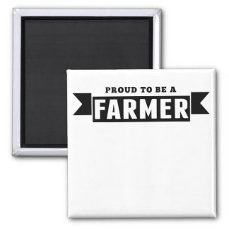 Proud To Be A Farmer 2 Inch Square Magnet