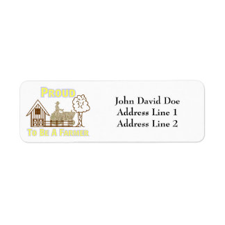 Proud To Be A Farmer Return Address Labels