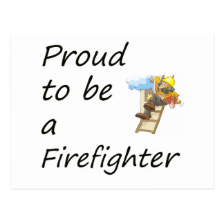 proud to be a firefighter copy postcard