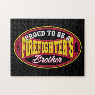 Proud to be a Firefighter's Brother Jigsaw Puzzle
