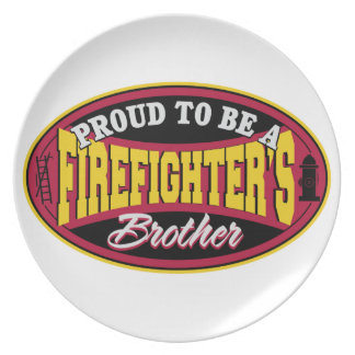 Proud to be a Firefighter's Brother Plate