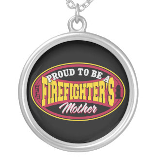 Proud to be a Firefighter's Mother Silver Plated Necklace