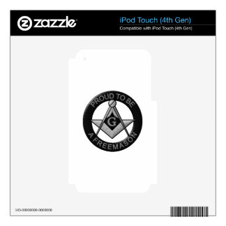 Proud To Be A Freemason iPod Touch 4G Decal