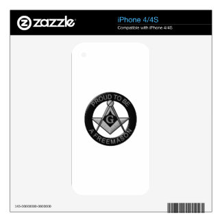 Proud To Be A Freemason Skin For iPhone 4S