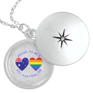 Proud to be a Gay Australian Sterling Silver Necklace