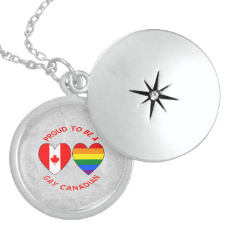 Proud to be a Gay Canadian Sterling Silver Necklace