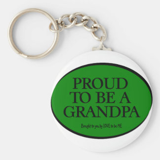 PROUD TO BE A GRANDPA - LOVE TO BE ME KEYCHAIN