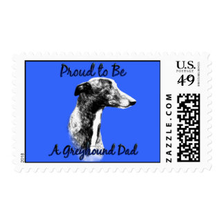 Proud to be a Greyhound Dad Postage