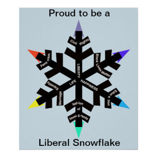 Proud to be a Liberal Snowflake poster