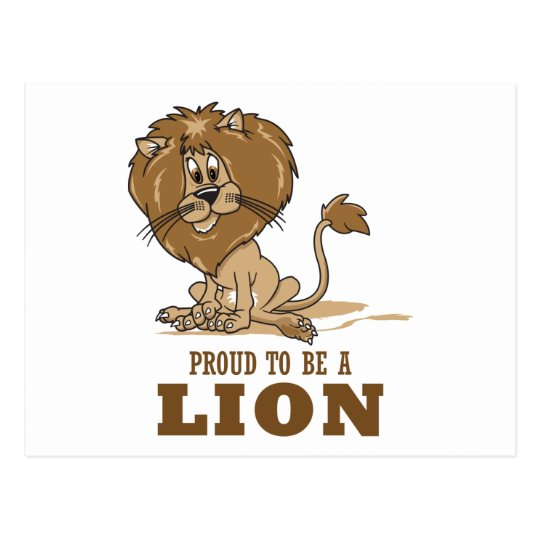 Proud To Be A Lion Postcard