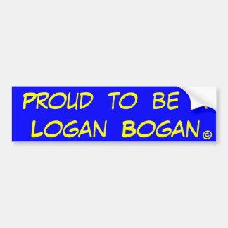 Proud to be a Logan Bogan Bumper Sticker
