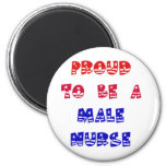 PROUD TO BE A MALE NURSE MAGNETS