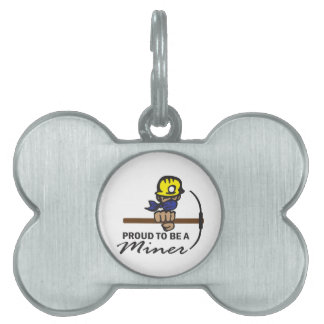 Proud To Be A Miner Pet ID Tags