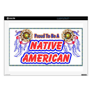 """Proud to be a Native American 17"""" Laptop Skins"""