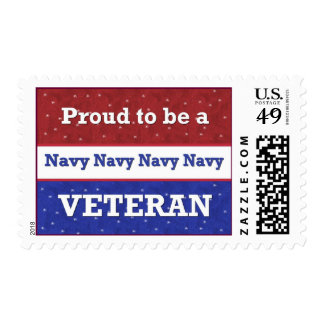 Proud to Be a Navy Veteran Postage