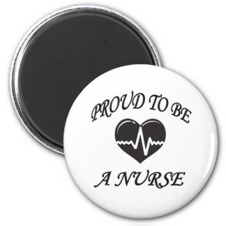 PROUD TO BE A NURSE 2 INCH ROUND MAGNET