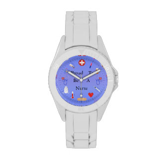 Proud To Be A Nurse Or Your Text Wristwatch