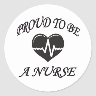 PROUD TO BE A NURSE STICKER