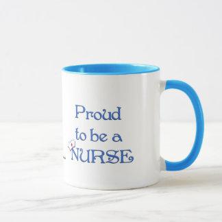 Proud to be a nurse/with cap mug