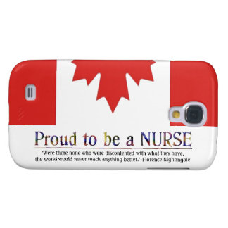 Proud to be a Nurse-with Quote+Canadian Flag Galaxy S4 Cover