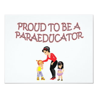 PROUD TO BE A PARAEDUCATOR CARD