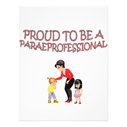 PROUD TO BE A PARAPROFESSIONAL FLYER