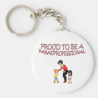 PROUD TO BE A PARAPROFESSIONAL KEYCHAIN