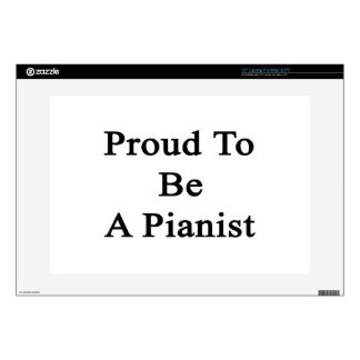 Proud To Be A Pianist Laptop Skin