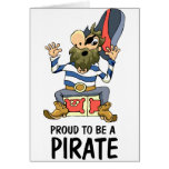 Proud To Be A Pirate Greeting Cards