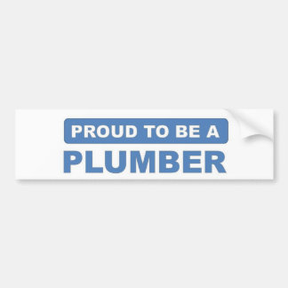 Proud to be a plumber bumper sticker