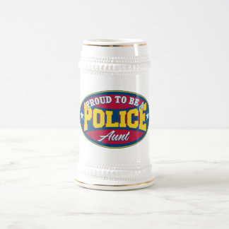 Proud to be a Police Aunt Beer Stein