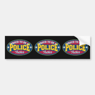 Proud to be a Police Father Bumper Sticker