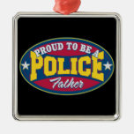 Proud to be a Police Father Christmas Tree Ornament