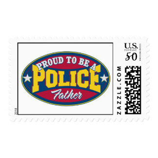 Proud to be a Police Father Postage