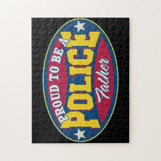 Proud to be a Police Father Jigsaw Puzzle