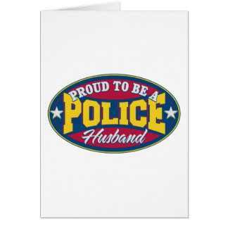 Proud to be a Police Husband Card