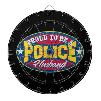 Proud to be a Police Husband Dart Board