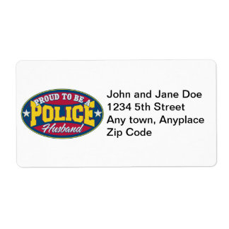 Proud to be a Police Husband Label