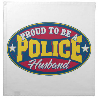 Proud to be a Police Husband Cloth Napkin