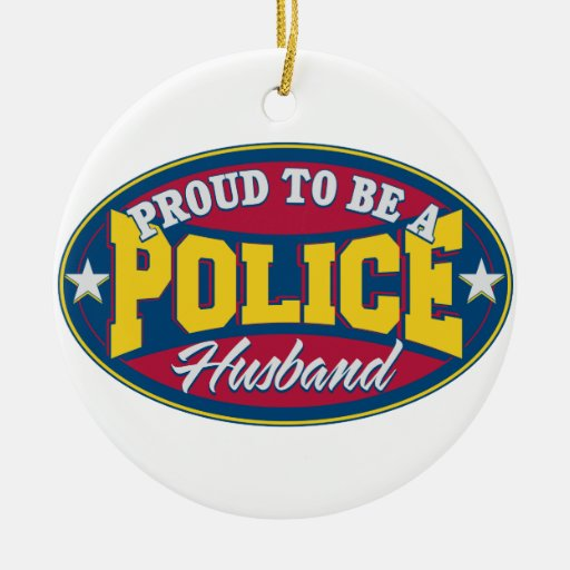 Proud to be a Police Husband Christmas Tree Ornament