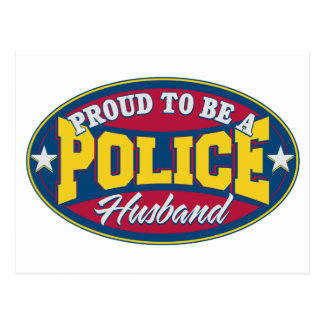 Proud to be a Police Husband Postcard