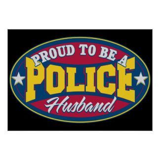 Proud to be a Police Husband Print