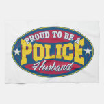 Proud to be a Police Husband Towel